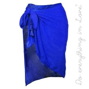 """Sarong Wrap 40"""" x 37"""" with Side Tassel Tie 
